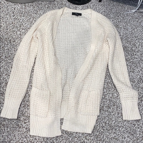 Thick cable cardigan